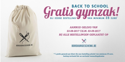 BACK TO SCHOOL - GRATIS GYMZAK